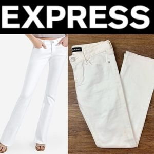NEW EXPRESS WHITE LOW RISE STRETCH BARELY BOOT